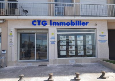 CTG Immobilier – Enseigne lumineuse